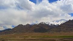 Panorama of mountain ranges of Ladakh Stock Footage