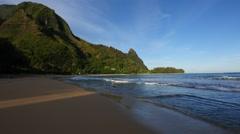 Haena Beach, Kauai, Hawaii Stock Footage