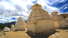 System of the big ancient stupas Stock Footage
