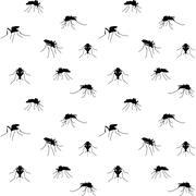 biting mosquitoes - stock illustration