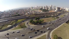 "The famous ""Radial Leste"" in Sao Paulo, Brazil Stock Footage"