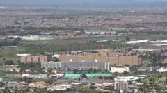 Wide establishing shot of Tygerburg Hospital,Capetown Stock Footage
