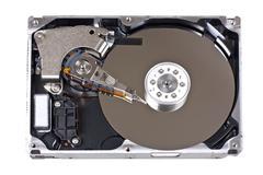Open hard drive Stock Photos