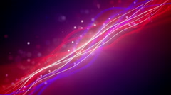 Flowing lines and particles loopable background Stock Footage