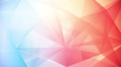 Abstract triangle geometrical blue red background loop Stock Footage