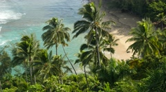 Kee Beach, Napali Coast, Haena State Park, Kauai, Hawaii - stock footage