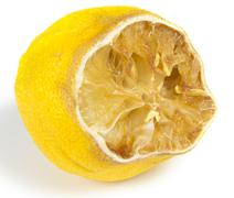 rotten lemon - stock photo
