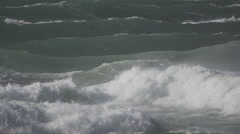 Storm at the Sea in Denmark slowmotion5 - stock footage