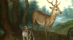 Bramante's Cloister-Flemish painters-016 - stock footage
