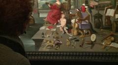 Bramante's Cloister-Flemish painters-011 - stock footage
