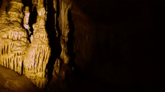 inside the beautiful cave. - stock footage