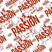 Stock Illustration of passion typographic grunge design pattern