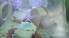baby in an incubator - stock footage