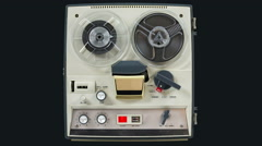 Reel to reel tape recorder, 06 Stock Footage