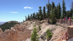 Bryce Canyon NP Utah trail to lookout tourists 4K 158 Stock Footage
