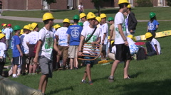 College and university frosh week fun activities Stock Footage