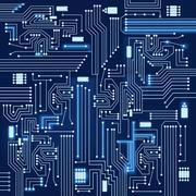 electronic circuit background - stock illustration