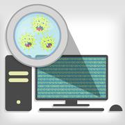 Stock Illustration of germs on pc