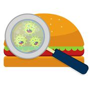 Hamburger with germs Stock Illustration