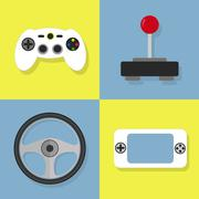 Video game icons Piirros