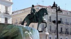 Madrid - Puerta del Sol Carlos III - stock footage