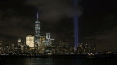 NYC Tribute In Lights Stock Footage