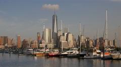 World Trade Center NYC Marina Stock Footage