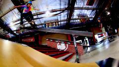 Skateboarding Loop - Boardslide Stock Footage