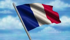 French Flag Animation - 4K Resolution Ultra HD Stock Footage