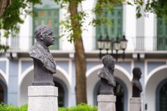 Stock Photo of panama city old casco viejo antiguo statue