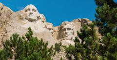Mt. Rushmore Reveal Time-Lapse Stock Footage