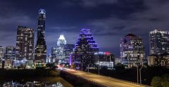 Austin Skyline Time-lapse Zoom Out Stock Footage