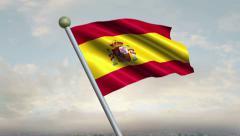 Spanish Flag Animation – 4K Resolution Ultra HD Stock Footage