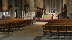Cathedral Church of Saint John the Divine Stock Footage