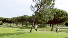 Algarve Golf Tee Shot A Stock Footage