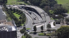 Cahill expressway and tunnel entrance to Sydney Harbour Tunnel. in Sydney CBD. Stock Footage