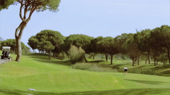 Algarve Golf Tee Shot B 29s Stock Footage