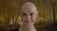 Stock Video Footage of cancer survivor portrait: sickness, fear, hope, courage, vitality, smile, faith