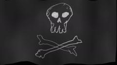 Pirate flag piracy original Stock Footage