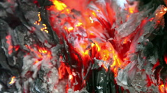 HD - The flames and ashes Stock Footage