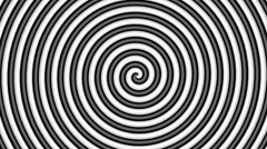 Black and white hypnotic circle - stock footage