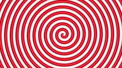 Red and white hypnotic circle Stock Footage