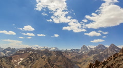 Clouds over the valley. Time Lapse. Pamir, Tajikistan Stock Footage