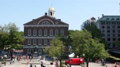 4K Boston Fanueil Hall Exterior In Summer Stock Footage