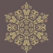 Orient vector ornamental round lace Stock Illustration