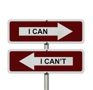 i can versus i can not - stock illustration