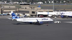 4K JetBlue Airport gates Stock Footage