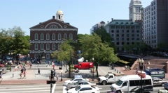 4K Faneuil Hall Square Boston Stock Footage