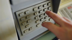 Dialing sequence into a security panel Stock Footage