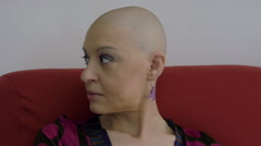 Happy and young cancer survivor after successful chemotherapy: courage, hope Stock Footage